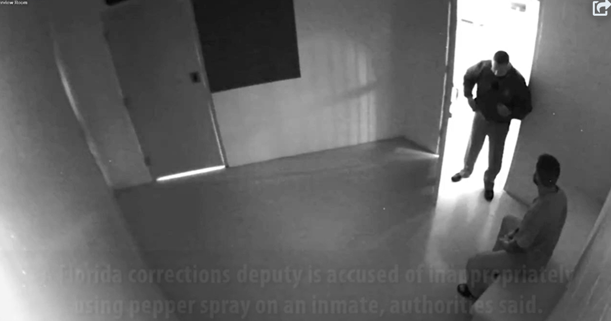 Florida Corrections Deputy Arrested, Fired After Using Pepper Spray on Inmate