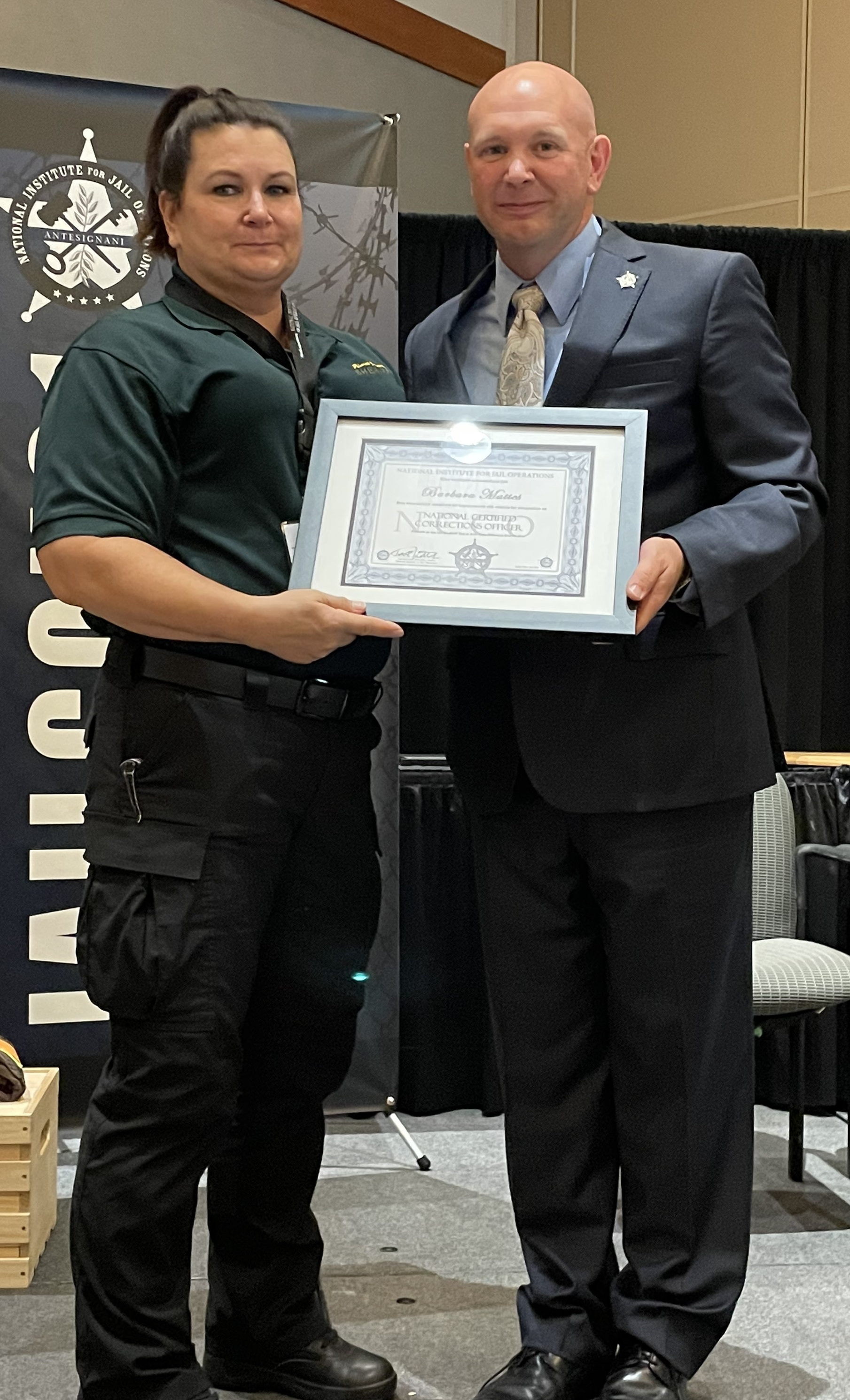 National Certified Corrections Officer_Pima County Sheriff's Office_Mattes