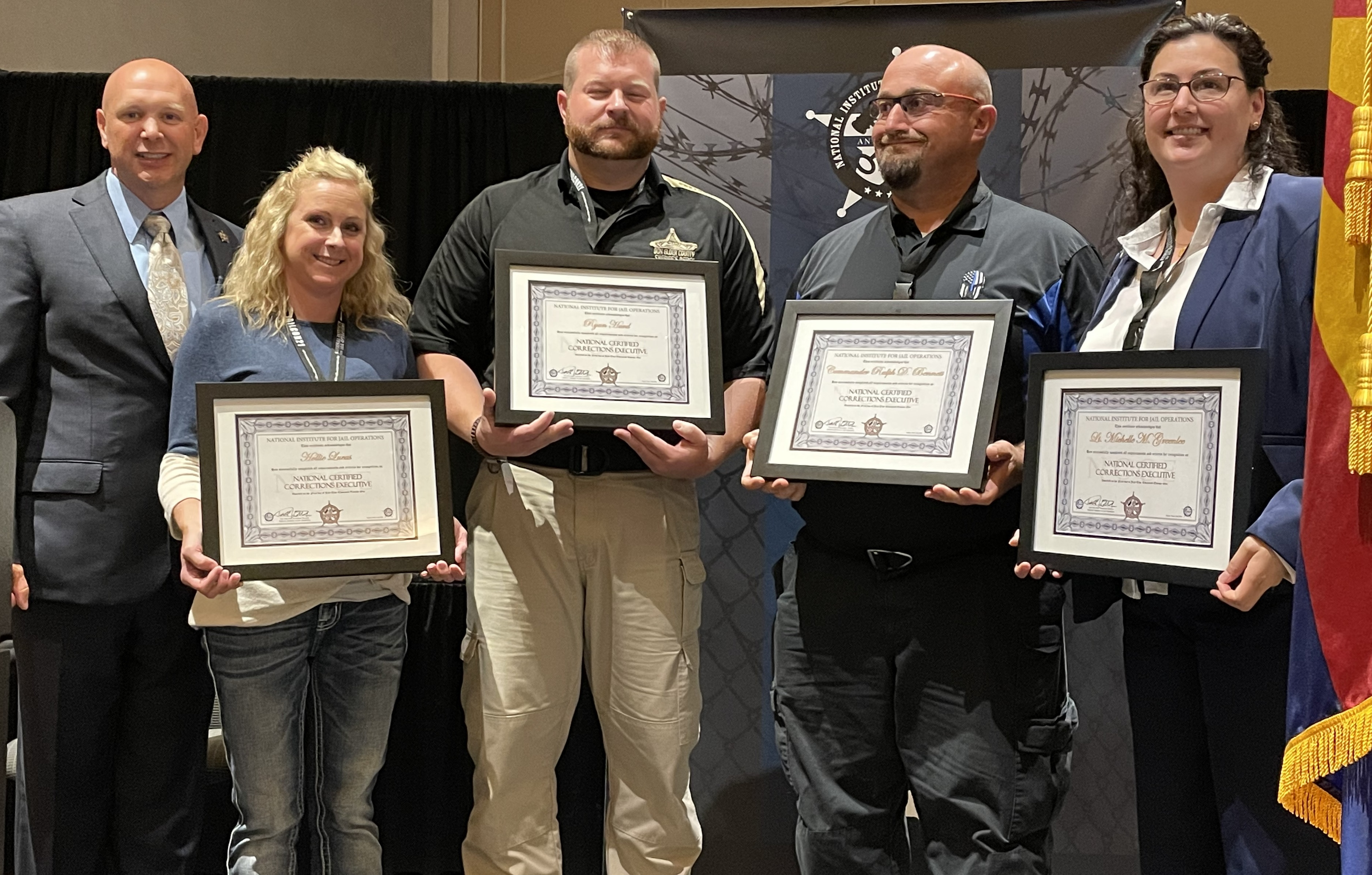 JAILCON21 West National Certified Corrections Executive (NCCE) Recipients