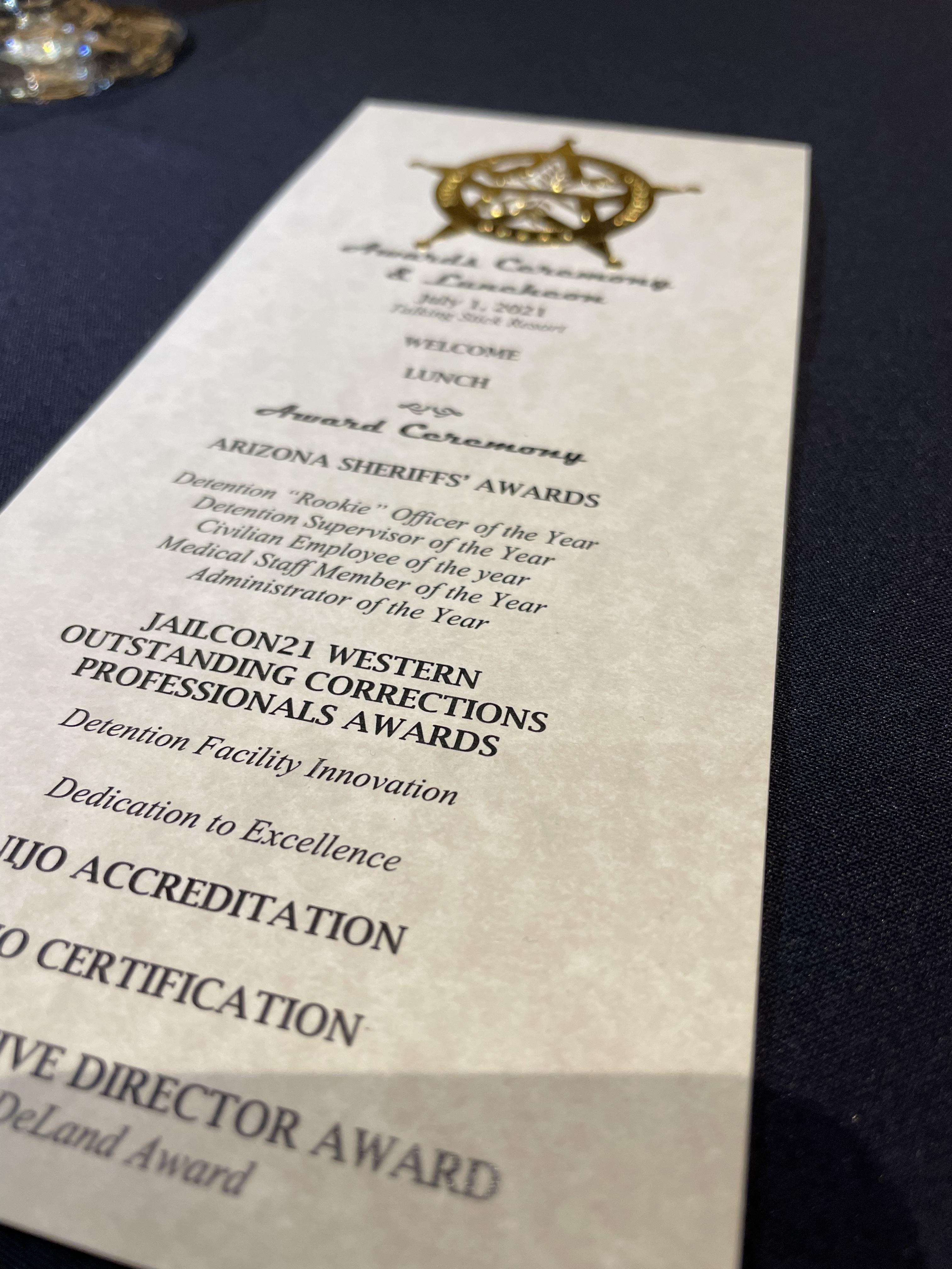 JAILCON21 Western Region Corrections Professionals Awards