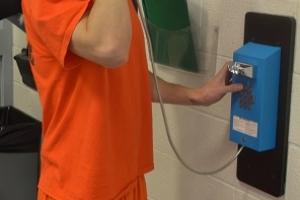 Inmate on Phone