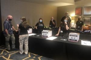 NIJO Staff preparing for check-in at JAILCON21 South